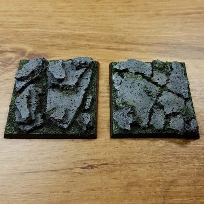 warhammer rock 50x50mm bases
