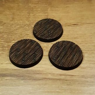 Wooden Floor 40mm round bases Scenery en Zo