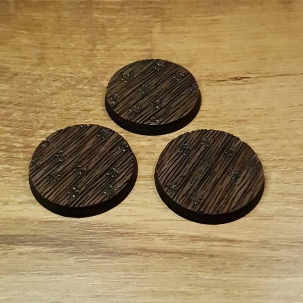 Wooden Floor 40mm round bases Scenery en Zo