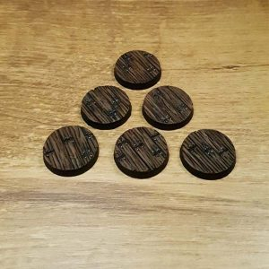 Wooden Floor 25mm round bases Scenery en Zo