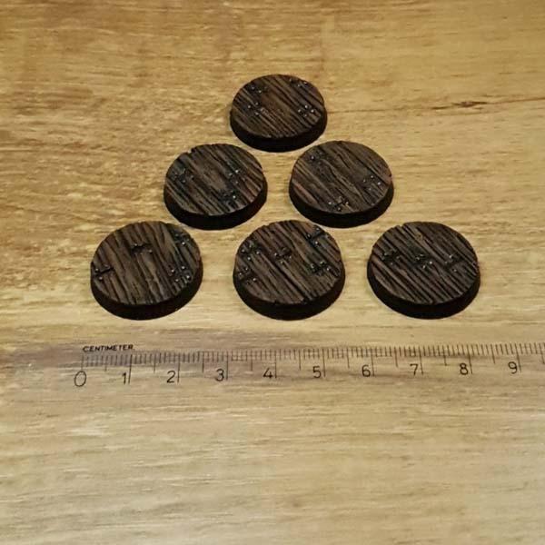 Wooden Floor 25mm round bases Scenery en Zo