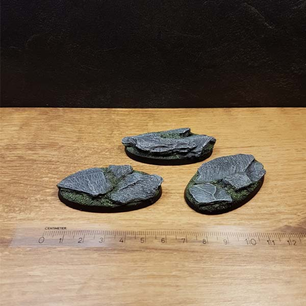 warhammer bases oval 60mm slate