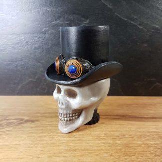 Steampunk Skull and Top Hat Sokkel