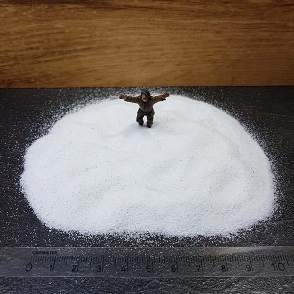 Raw materials white sand Scenery en Zo
