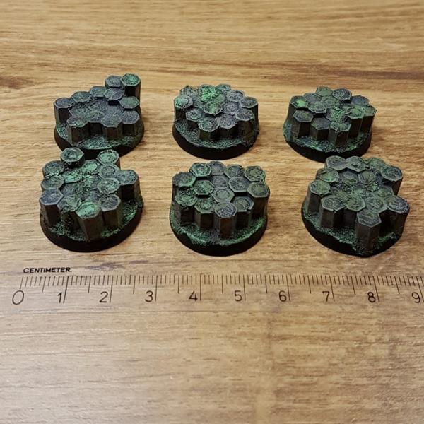 Basalt Rock 25mm round Warhammer bases Scenery en zo