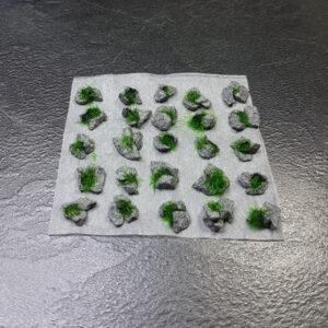 Basalt Rock Static Grass Dark Green Scenery en Zo