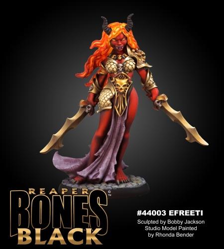 Reaper Miniatures Reaper Bones Black Ziba, Female Efreeti