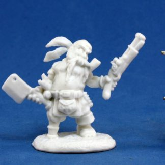 Reaper Miniatures Gruff Grimecleaver, Dwarf Pirate