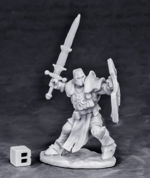 Reaper Miniatures Crusader Champion (attacking)