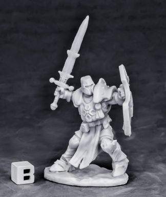 Reaper Miniatures Crusader Champion (attacking)