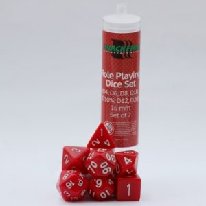 Blackfire Dice - 16mm Role Playing Dice Set - Red (7 Dice)