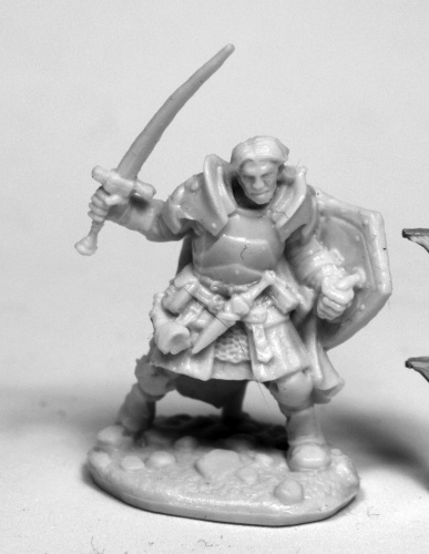 Rheagar, Male Fighter Reaper Miniatures
