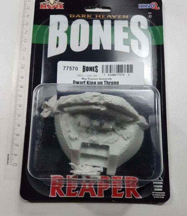 Reaper Miniatures Dwarf King on Throne 77570