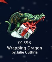 Christmas Wrapping Dragon 01593