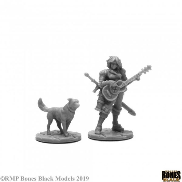 Reaper Miniatures Isobael the Bard and Rufus 44114