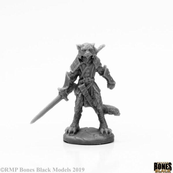 Reaper Miniatures Mal Catfolk Warrior 44117