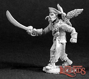 Arven Scarhull, Pirate Captain 03224 Reaper Miniatures Scenery en Zo