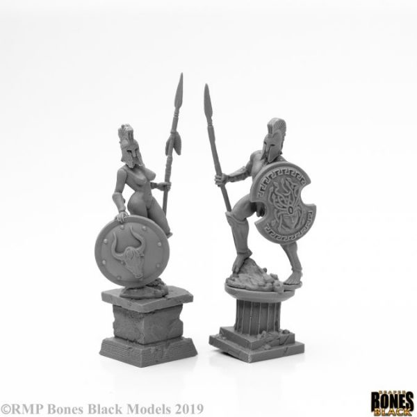 Amazon and Spartan Living Statues (Bronze) 44126 Reaper Miniatures