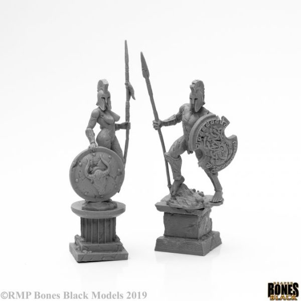 Amazon and Spartan Living Statues (Stone) 44127 Reaper Miniatures