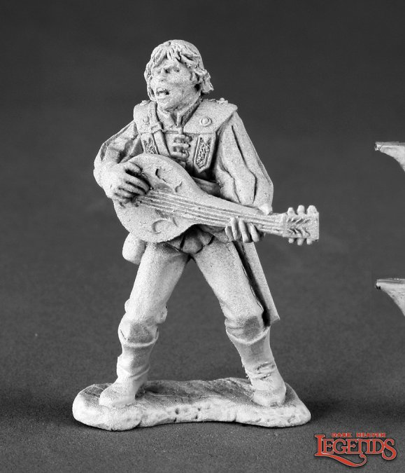 Reaper Miniatures Alfred Redlute, Bard 03485