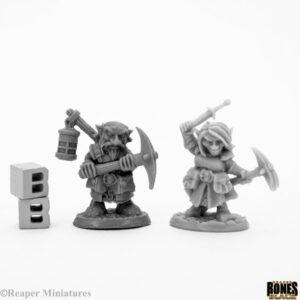 Reaper Miniatures Deep Gnome Heroes (2) 44047