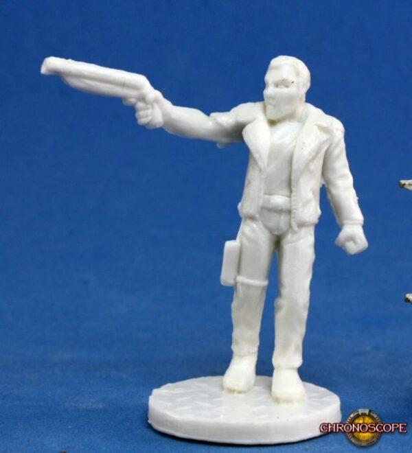 Reaper Miniatures Chronoscope Rex, Dark Future Hero 80009