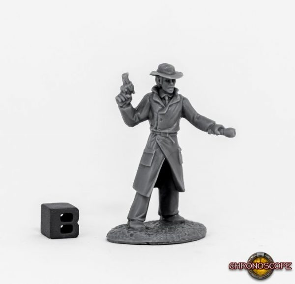 Reaper Miniatures Chronoscope Max Graves, Pulp Era Investigator 80067
