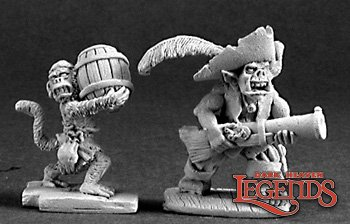 Reaper Miniatures Goblin Pirate and Powder Monkey 03211