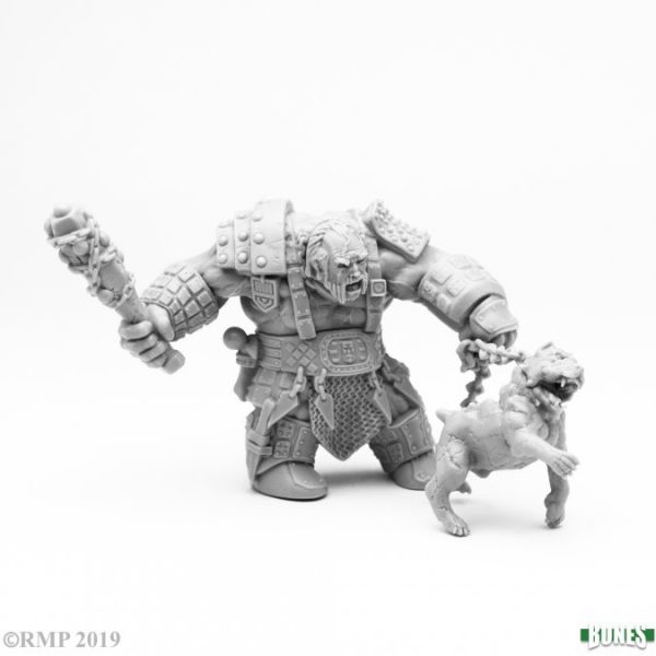 Reaper miniatures Fire Giant Huntsman with Hell Hound 77457
