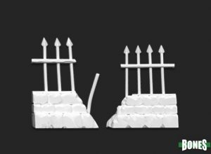 Reaper Miniatures Graveyard Ruined Fences (2) 77528