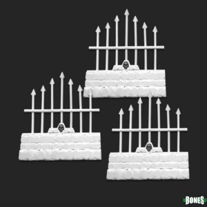 Reaper Miniatures Graveyard Short Fences (3) 77530