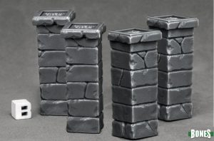 reaper Miniatures Graveyard Fence Posts (4) 77531