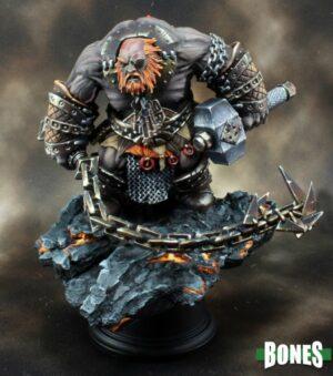Reaper Miniatures Bluferg, Fire Giant Jailor 77593