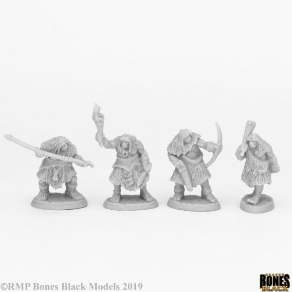 Reaper Miniatures Black Bear Tribe Cavemen (4) 44086