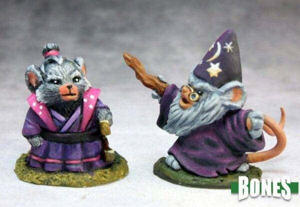 Reaper Miniatures Mousling Sorcerer and Samurai 77288
