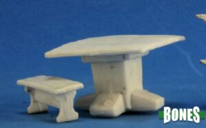 Reaper Miniatures Tavern Items: Table and Benches 77319
