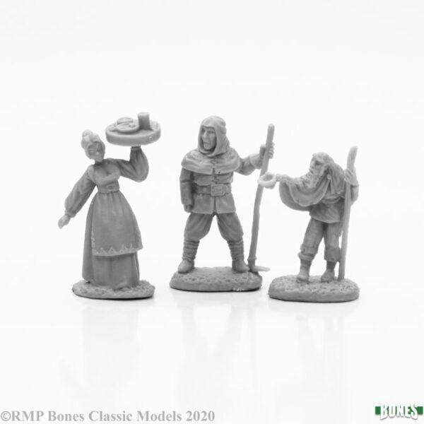 Reaper Miniatures Townsfolk I (3) 77665