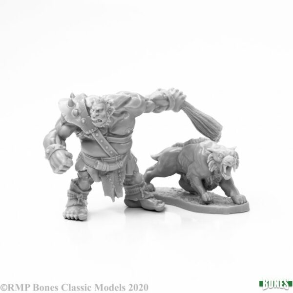 Reaper Miniatures Hill Giant Hunter & Dire Lion 77939