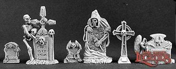 Reaper Miniatures Tombstone (6) 03122 (metal)