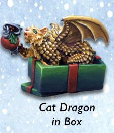 Cat Dragon in Box (metal) Limited Edition