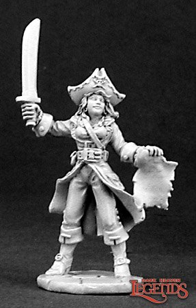 Reaper miniatures Vandora Waverunner, Pirate 03155 (metal)