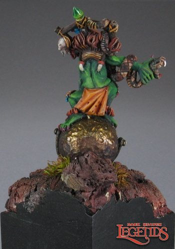 Reaper Miniatures Ghoul Witch on Cauldron 03453 (metal)