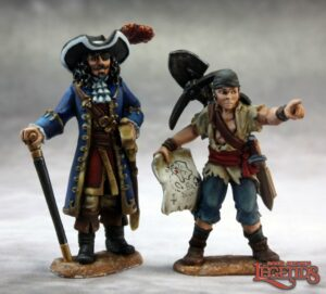 Reaper Miniatures Pirate Lord and Cabin Boy 03635 (metal)