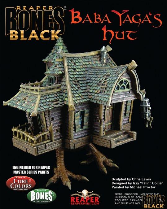 Reaper Miniatures Baba Yaga's Hut - Bones Black Deluxe Boxed Set