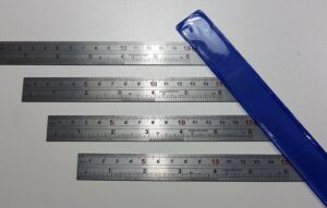 Lineaal rvs 15 cm-inch 1