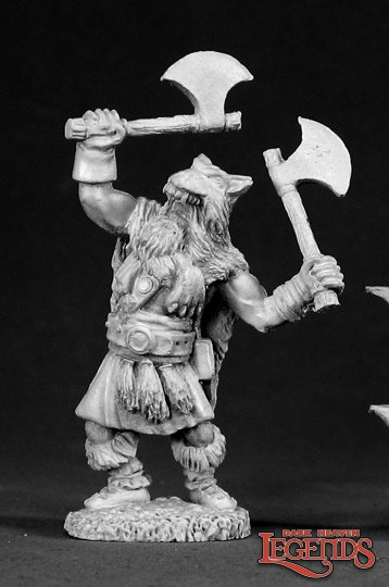 Reaper Miniatures Olaf, Wolf Warrior 02289 (metal)