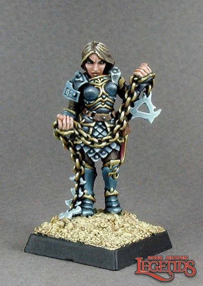 Reaper miniatures Rasia, with Spiked Chain 02823 (metal)