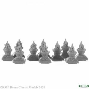 Reaper Miniatures Brazier Pillar Tops (10) 77732