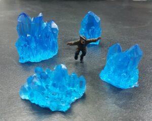 Kristallen Blauw Scenery en Zo