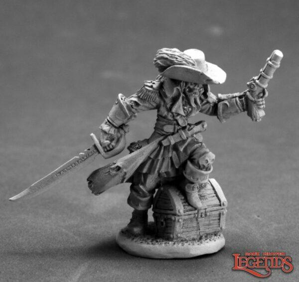Reaper Miniatures Captain Razig, Undead Pirate 03615 (metal)